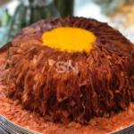 Fitas de Coco com Ovos Moles